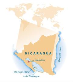 Mapa sa Nicaragua