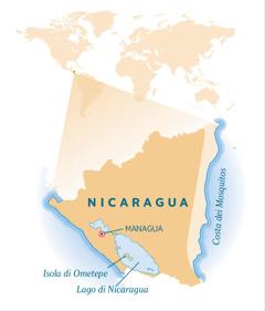 Mappa del Nicaragua