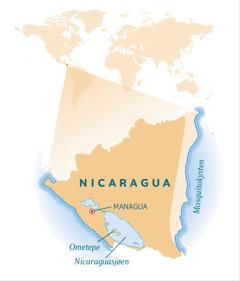 Et kart over Nicaragua