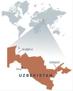 Uzbekistanin kartta