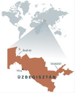 Üzbegisztán térképe
