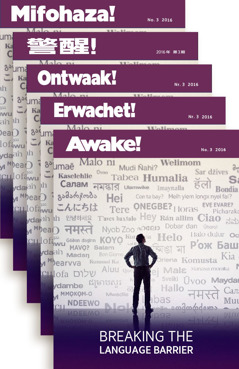 Revista Despertai! em vários idiomas