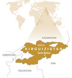 Un mapa del Kirguizistan