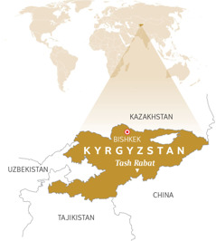 A map of Kyrgyzstan