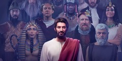 Jesus stands out among a group of ancient rulers