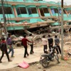 בניינים בנפאל שנהרסו מרעידת האדמה שהתרחשה באפריל 2015