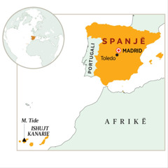 Spanja në hartë