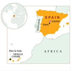 Mapu yo yilongo charu cha Spain