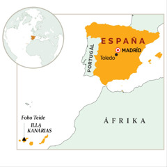 Rai-España iha mapa