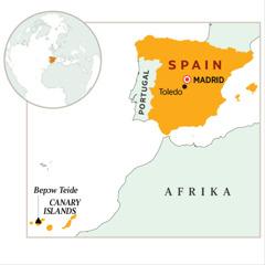 Baabi a Spain wɔ wɔ map so
