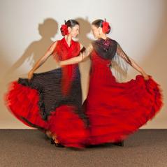 Δυο χορεύτριες ισπανικού φλαμένκο
