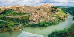 Toledo, en populær turistby i Spania