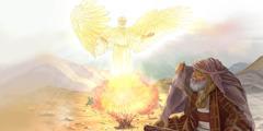 מלאך נגלה למשה בסנה הבוער