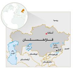 خريطة قازاخستان