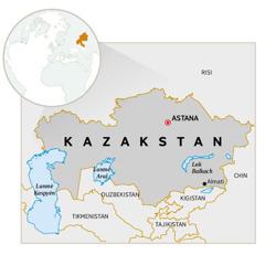 Yon kat jeyografi ki montre kote peyi Kazakstan ye.