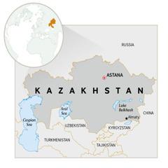 A map of Kazakhstan