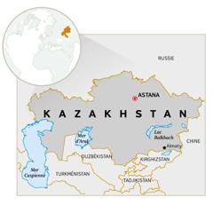 Une carte du Kazakhstan
