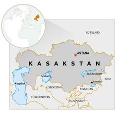 Kort af Kasakstan.