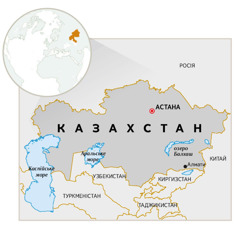 Карта Казахстану
