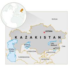 Mappa tal-Każakistan