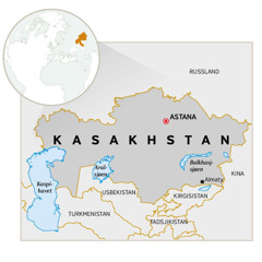 Et kart over Kasakhstan