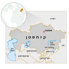 מפת קזחסטן