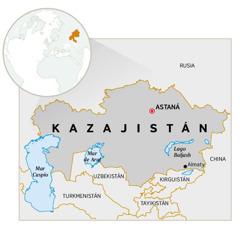 Un mapa de Kazajistán