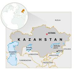 Zemljevid Kazahstana