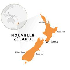 La Nouvelle-Zélande sur une carte du monde