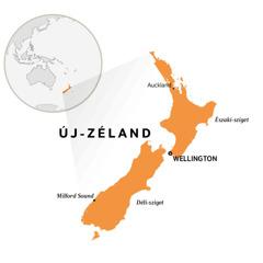 Új-Zéland a térképen