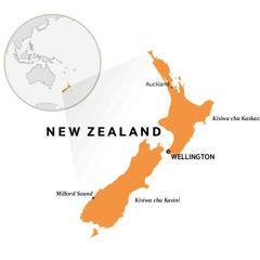 New Zealand katika ramani ya dunia
