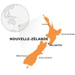 Nouvelle Zélande kwenye karte ya dunia