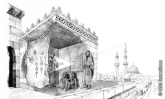 Riproduzione di una camera oscura di Alhazen