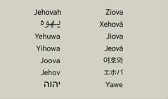 اسم الله بلغات مختلفة