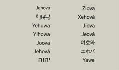 Božje ime na raznim jezicima
