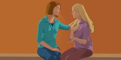امرأة تسامح صديقتها