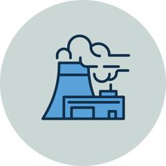 Una chimenea contaminando el aire