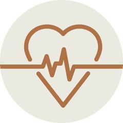 Pictogramme représentant le tracé d'un électrocardiogramme sur un cœur, en symbole de la maladie.