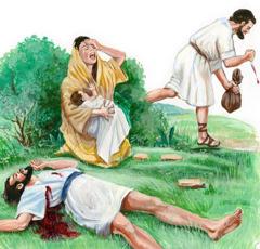 В дни Еноха жестокий человек убил другого человека