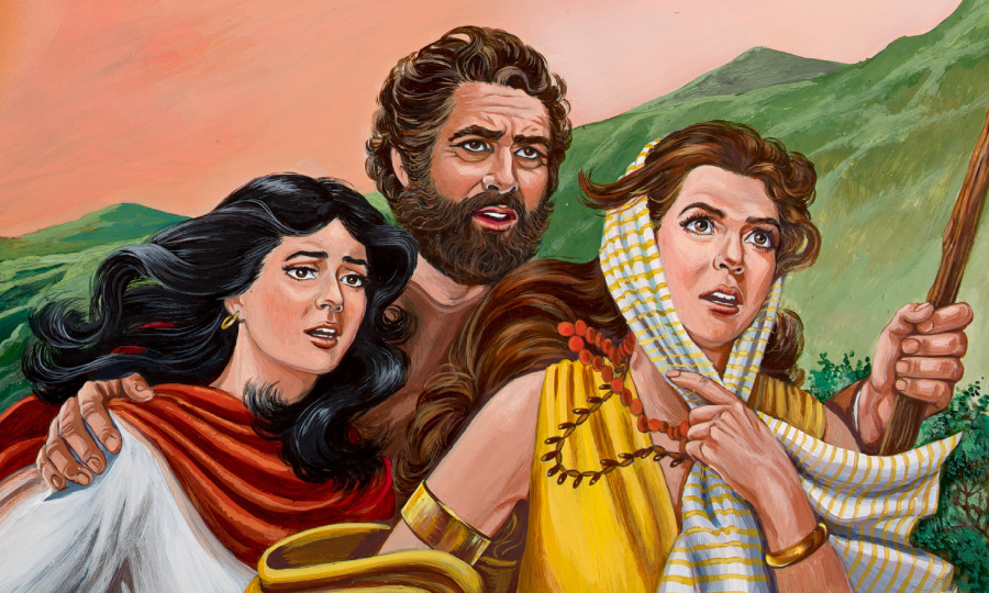 La Esposa De Lot Se Convierte En Un Pilar De Sal Historia Bíblica