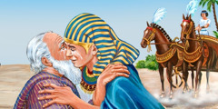 Jacob and Joseph's tearful reunion in Egypt