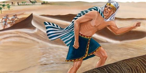 Moisés huye de Egipto