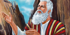 Moses receiving God's law at Mount Sinai