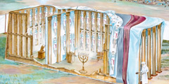 The tabernacle or tent of meeting used by Israel