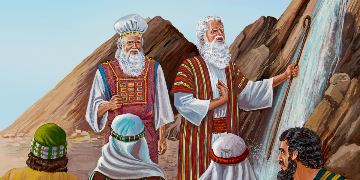Moisés hiere la roca en Cades | Historia bíblica