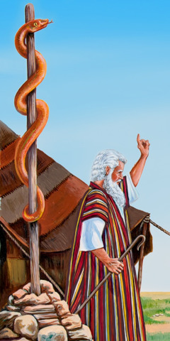 Moses and the copper serpent