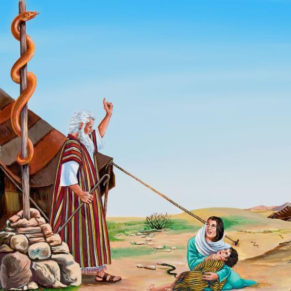 Moiss y la serpiente de cobre  Historia bblica