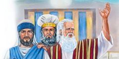 Jozua, Mozes en Eleazar, de priester