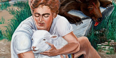 Dovydas užmuša mešką ir išgelbsti ėriuką