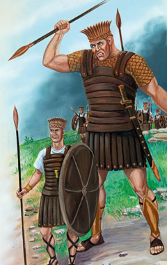 Goliath and the Philistine soldiers